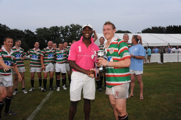 Sylvester Vince-Oduzi of Paladin Capital presents trophy